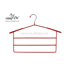 Metal clothes hanger with PVC