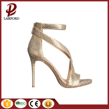 high quality gold sex strap women sandals