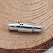 BXG001 Aço Inoxidável Couro Magnético Fecho Cordão Integral Fecho Integral com Mecanismo de Bloqueio - Fit 2/3/4/5/6 mm Cordão de couro