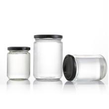 10oz Food grade cylinder glass pickled food jar with screw cap