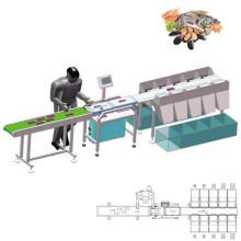 Intelligent Digital Weight Sorting Machine Chicken Paws Feet Grading Prawn Shrimp Sorting Machine Stainless Steel LCD ALWELL