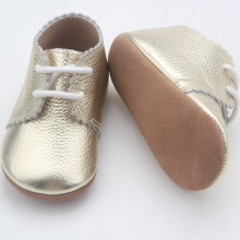 Lace Up Soft Sole Oxford Leather Baby Shoe