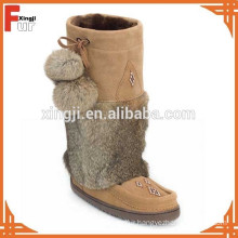 Top quality real rabbit fur winter boot cuff
