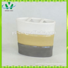 bamboo design ceramic toothbrush holder