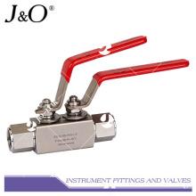 Válvula de esfera manual de aço inoxidável de alta pressão