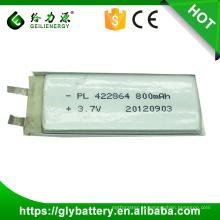 Bateria do polímero do lítio de 3.7v 550mah
