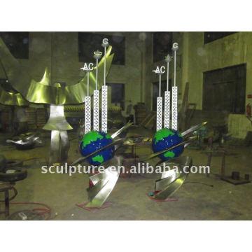 Metall im Freien globale Skulptur