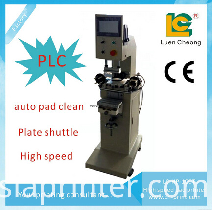 PLC pad printer with pad clean system