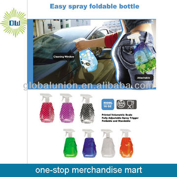 foldable plastic spray bottle