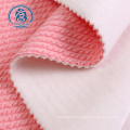 polyester jacquard bubble bonded super soft fleece fabric