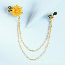 Superstarer New Handmade Oil Drop Flower Brooch Creative Geometric Bee Corsage