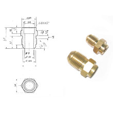 Brass Union and Nuts Accessory