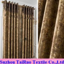 Micro cuero con estampado de tela para cortinas