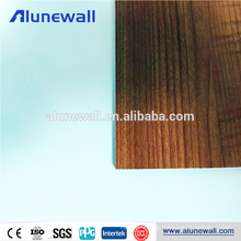 Factory price Wooden grain curtain wall aluminum composit panel