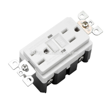 YGB-092WR Household american wall sockets 15A 2LED gfci receptacles