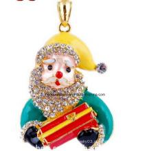 Jóias de natal / natal colar / pai natal (xjw13348)