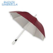 Chinois Fournisseur Innovative Affaires Lumière Bâton de Marche Promotion UV Protection En Aluminium Hôtel Long Parapluie avec Logo Imprime