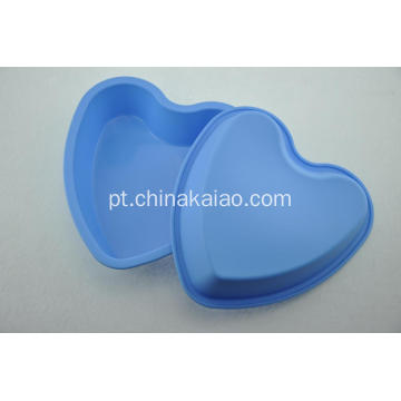 Venda Por Atacado Blue Heart FDA Silicone Cake Pan