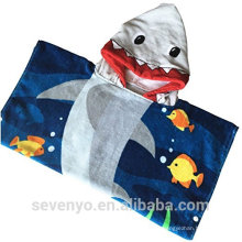 100% cotton hooded baby towel shower gift for boys and girls Fits newborns infants and toddlers-- Fish