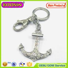 2016 Newest Crystal Anchor Metal Custom Nautical Keychain #15510
