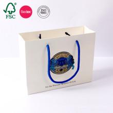 Regalo impreso blanco barato de encargo del arte de Kraft del regalo del arte de Luxuy hecho en China