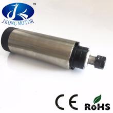 Motor de husillo cnc de enfriamiento de agua y aire de 2.2kw con video de fábrica