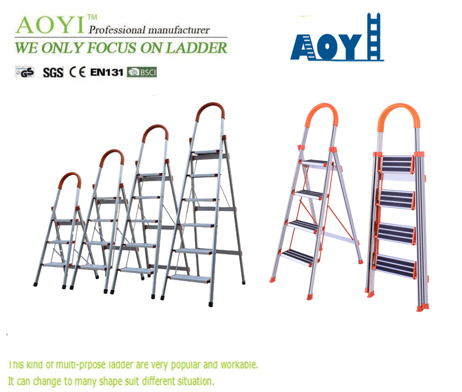Non slip household 5 steps ladder