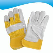 10,5 дюймов желтый корова раскол кожаный риджгер рабочие перчатки с полной ладони для поощрения