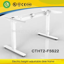 Electric height adjustable office metal desk with a great single motor