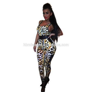 Apparel supplier new black custom printing one piece jumpsuit