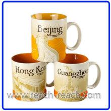 OEM de cerámica taza, taza de café de la ciudad (R-3064)