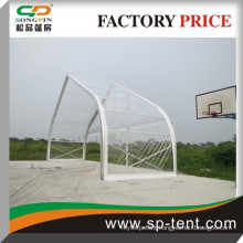 Clear curved roof top tent with aluminum structure for outdoor event 25x30m
