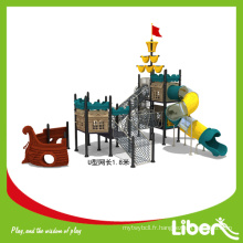 Conception personnalisée Pirateship Series Aire de jeux extérieure pour le parc d'attractions, salle de gym en plein air pour les enfants