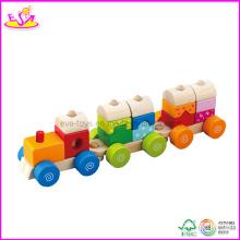 Jouet de train de bloc en bois d'enfants (W04A068)
