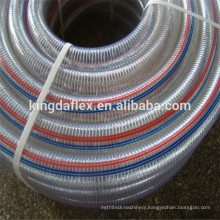 High Temperature Food Grade High Pressure Transparent Spiral Steel Wire Reinforced PU Suction Hose