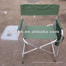 Aluminum director chair with cup holder