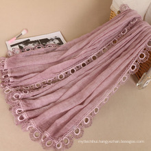 New Design wholesale turkish maxi cotton maxi shawl scarf women hijab lace viscose hijab