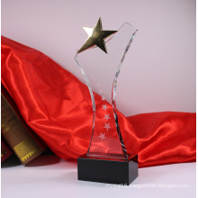 Crystal Five Star Trophy Glass Awards
