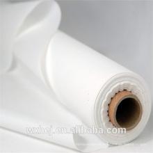 Fábrica liso branco TC300 100% algodão em embalagem de rolo