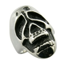 Fashion European Style Skull Ring