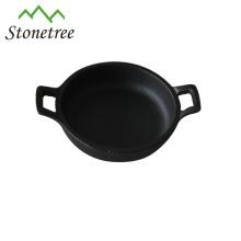 Mini poêle / poêle à rectangle en fonte à l'huile végétale