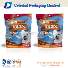 2015 high quality plastic dog food packaging bags / standup pouch with ziplock