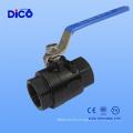 Válvula de esfera de aço inoxidável 2PC Thread com certificado Ce