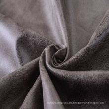 100% Polyester Bronzing Wildleder aus Synthetik Leder