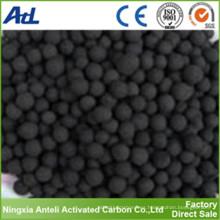importación y exportación esférica de carbón activado a base de madera