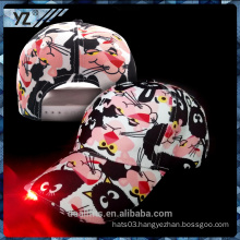 100% cotton baseball hat with LED light DONGGUANG factory