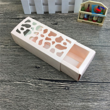 boîtes de macaron tiroir à la main emballage avec fenêtre
