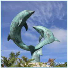 Bronze Playing Dolphin Sculpture For Sale