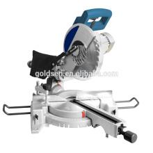 Nouveau moteur à induction à longue durée de vie en bois en aluminium Découpe coupé Machine à scier Puissance électrique 255mm Slide Compteur Mitre Saw