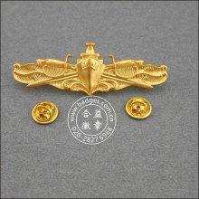 Gold Plated Organizational Pins, Militar Emblema (GZHY-BADGE-001)